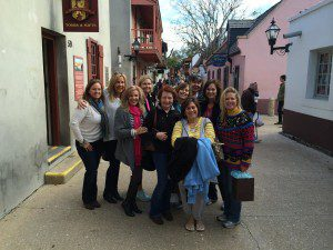 group of women shopping in St. Augustine